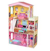 Великий дерев'яний ляльковий будиночок для Барбі