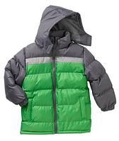 Куртка зимняя серо-салатовая Climate Concepts(США) для мальчика 5-7 лет