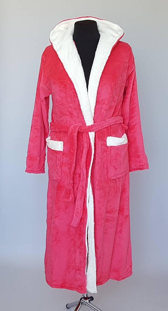 Длинный женский махровый халат