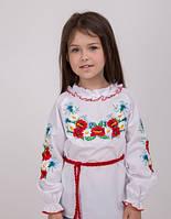 Детская вышиванка с ромашками