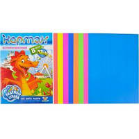 Цветной картон А4, 8 листов флуорисцентный