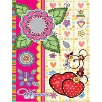 Школьный дневник МАНДАРИН А5+ Твёрдая Обложка на резинке Heart (укр) 1408