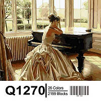 "Q1270 ""Девушка у рояля"" Картина по номерам 40Х50см Mariposa Turbo"