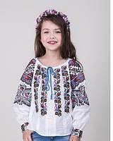 Детская вышитая блуза лён