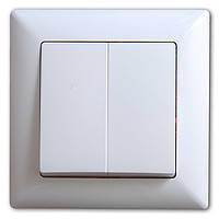 Neoline выключатель 2-кл. белый