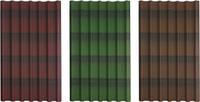 Черепица ондулин 0,96х1,95 (зеленый, красный, коричневый), фото 1