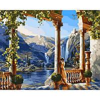 """VP011 """"Девушка у водопада"""" Картина по номерам  40Х50см Babylon Turbo"""