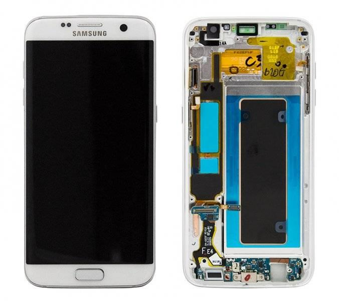 Дисплей Samsung G935 Galaxy S7 Edge с сенсором White , GH97-18533D