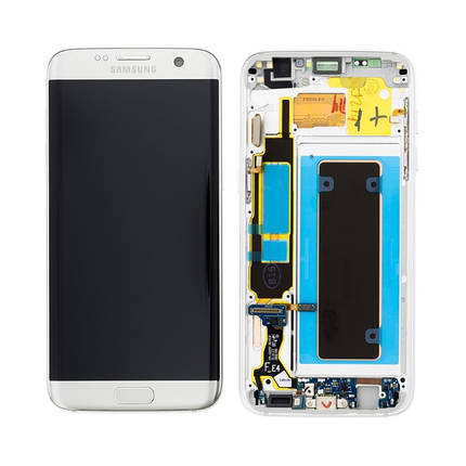 Дисплей с сенсором Samsung G925 Galaxy S6 Edge Белый/White, GH97-17162B  , фото 2