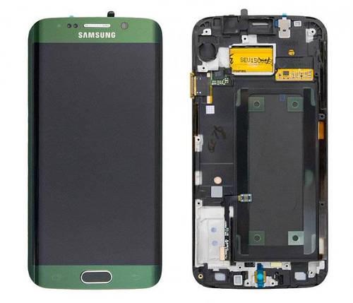 Дисплей с сенсором Samsung G925 Galaxy S6 Edge Зеленый/Green , GH97-17162E, фото 2