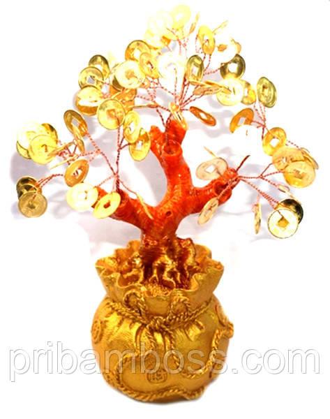 Дерево щастя з золотими монетами в мішку 14 див.