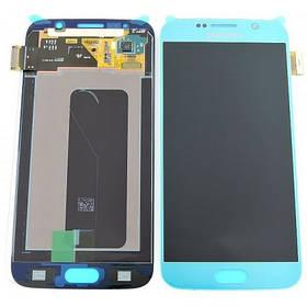 Дисплей Samsung G920 Galaxy S6 с сенсором Blue, GH97-17260D