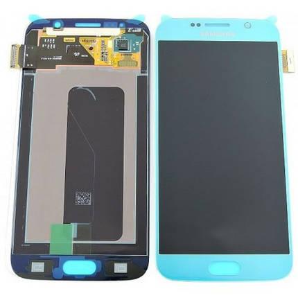Дисплей Samsung G920 Galaxy S6 з сенсором Blue, GH97-17260D, фото 2