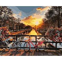 "VP640 ""Каналы Амстердама"" Картина по номерам 40Х50см Babylon Turbo"