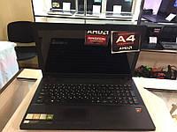 Ноутбук Lenovo 15,6 4 ядра А4, 4 озу, 500 диск, 2 видеокарты