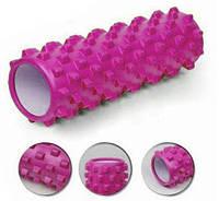 Роллер массажный Grid roller (45см)FI-4942-5 розовый