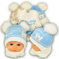 Комплект шапка и шарф для новорожденных, Grans (Польша), утеплитель Softi term, A812ST