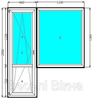 Балконный блок (выход на балкон) steko r 300 , цена 1320 гр.