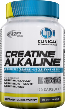 Кре алкалин, BPI Sports, Creatine Alkaline, 120caps