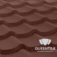 Композитная черепица QueenTile Standard Brown 3-тайловый