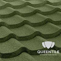 Композитная черепица QueenTile Standard Green  3-тайловый