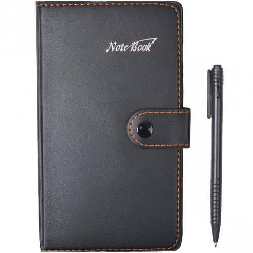 Блокнот В6 клетка с ручкой, кожзаменитель 6103, фото 2