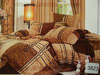 Сатиновое постельное белье семейное ELWAY 3823