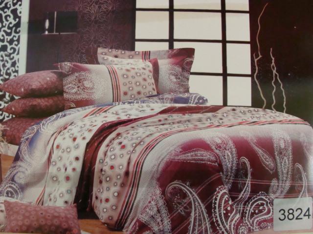 Сатиновое постельное белье семейное ELWAY 3824