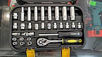Vorel 58642 набор торцевых головок и насадок с трещоткой 1/4″ 4-13мм