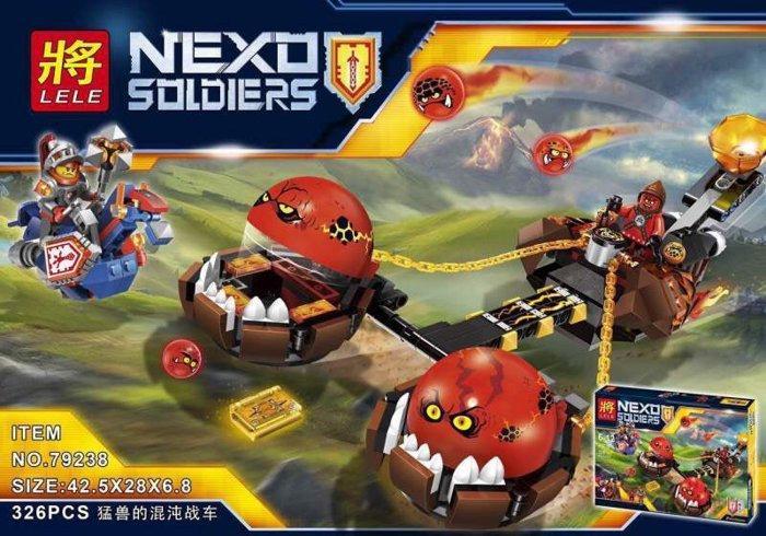 """Конструктор лего нексо LELE 79238 Nexo Knight (аналог Лего) """"Безумная колесница Укротителя"""", 326 дет"""