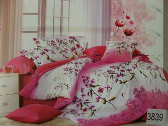 Сатиновое постельное белье семейное ELWAY 3839