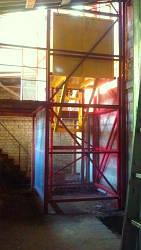 Шахтный клетьевой электрический подъёмник г/п 500 кг.