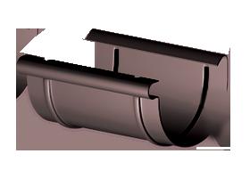 Соединитель желоба водосточного Gamrat Ø125 (Система 125/90)
