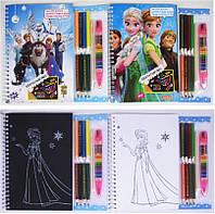 """Альбом для творчества E3000F """"Принцесса Холодное сердце"""" 12листов +8цветных карандашей +переставной восковой к"""