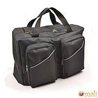 Сумка для коляски универсальная Omali с двумя накладными карманами, чёрная