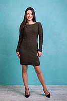 Модное женское вязаное  платье с узором в ромбы, фото 1