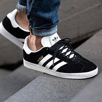 Кроссовки Adidas Gazelle Черно-Белые 41-45 рр.