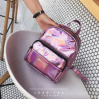 Рюкзак женский маленький блестящий