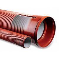 Трубы E2-T –двухслойные гофрированные, d-200, для защиты подземных кабельных сетей
