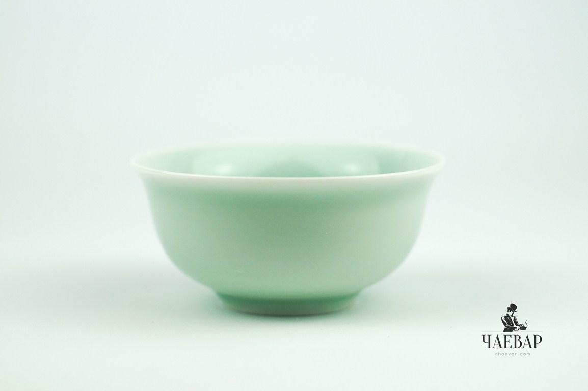 Пиала для чаепития, Бирюзовый фарфор глянцевая, 80мл, Чашка для чая
