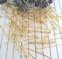 Пины - гвоздики, золото, 3,5 см, 25 гр/уп.