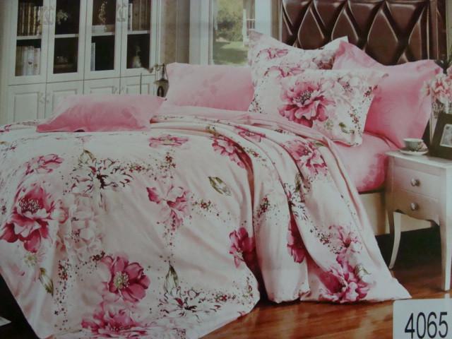 Сатиновое постельное белье семейное ELWAY 4065