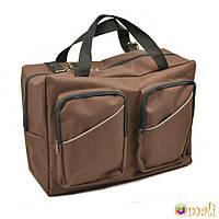 Сумка для коляски универсальная Omali с двумя накладными карманами, коричневая
