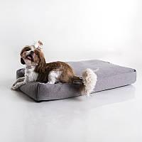 Dog Flat Gray - Флэт (мягкий прямой лежак для собак)