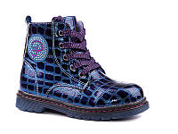 Демисезонная обувь оптом. Ботиночки для девочек оптом от производителя EEBB W550 blue (8 пар, 27-32)