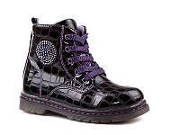 Демисезонная обувь оптом. Ботиночки для девочек оптом от производителя EEBB W550 purple (8 пар, 27-32)