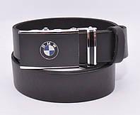 Кожаный ремень автомат мужской BMW 8305-505, авто коллекция