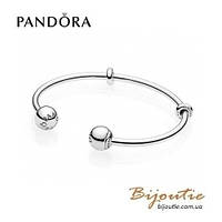 Pandora браслет Открытый браслет-бангл MOMENTS #596477 серебро 925 Пандора оригинал