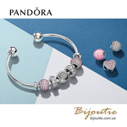 Pandora браслет открытый браслет бангл Moments 596477 серебро 925