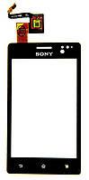 Тачскрин (сенсор) Sony ST27i Xperia Go, black (черный)